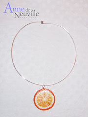 Collier argent ORANGE CLAIRE - 23 €