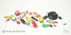 Bonbons en folie - Gouache - 80€