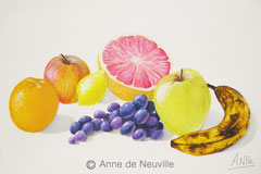 Nature morte - Gouache - 80€