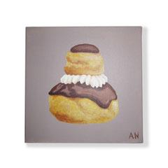 Religieuse au chocolat (toile sur chassis) - 38€