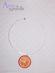Collier argent ORANGE SANGUINE - 23 €