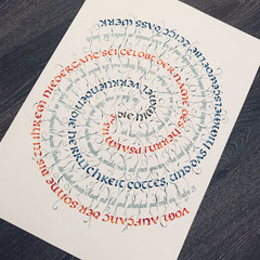 Psalme unendlich... in Unziale und Spitzfederantiqua