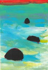 """Nr.: 081  """"Die drei Steine""""   70*100 cm"""