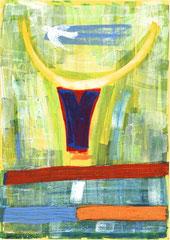 """Nr.: 018     """"Junger Stier im Frühling""""    70*100 cm"""