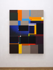 Richard Schur, Night, 2019, acrylic on canvas, 140 x 110 cm / 55 x 44 inch, available at Galerie 21.06, Ravensburg