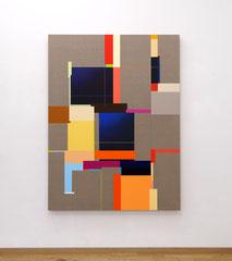 Richard Schur, Tower, 2019, acrylic on canvas, 160 x 120 cm / 63 x 47 inch, available at Galerie 21.06, Ravensburg
