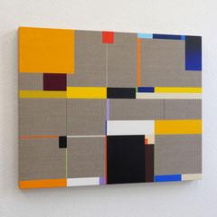 Richard Schur, Yellow, 2019, acrylic on canvas, 80 x 100 cm / 31 x 39 inch, available at Galerie 21.06, Ravensburg