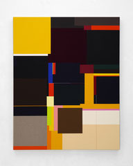Richard Schur, Back to Back, 2020, acrylic on canvas, 150 x 120 cm / 59 x 47 inch, available at Kristin Hjellegjerde Gallery, London and Berlin