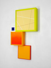 Richard Schur, Spatial Object, 2018, acrylic, wood, 90 x 50 x 9 cm  / 35 x 20 x 3,5 inch, available at Kristin Hjellegjerde Gallery, London and Berlin