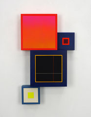 Richard Schur, Spatial Object, 2018, acrylic, wood, 50 x 30 x 9 cm / 20 x 12 x 3,5 inch