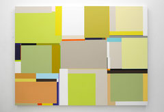Richard Schur, Summer Mornings, 2015, acrylic on canvas, 150 x200 cm / 59 x 79 inch, available at Espace Meyer-Zafra, Paris, New York, Miami