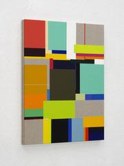 Richard Schur, Jungle, 2020, acrylic on canvas, 80 x 60 cm / 31 x 24 inch, available at Kristin Hjellegjerde Gallery, London and Berlin