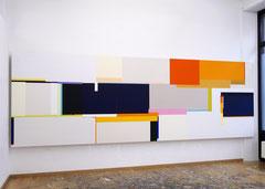 Richard Schur, Le Voyage, 2021, acrylic on canvas, 150 x 450 cm / 5 x 15 ft