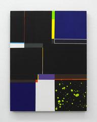 Richard Schur, deep Blue (Study), 2016, acrylic, wood, 60 x 50 cm / 24 x 20 inch