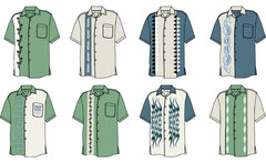 Designs for Men's shirts in Illustrator