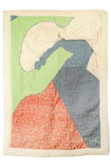 Emotion 4 2012 90cm x120cm Hand spun and dyed cotton by Laura Courtemanche