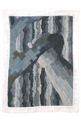 Emotion 2 2000 90cm x 120cm Hand dyed cotton Embroidery thread