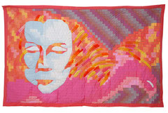 Thought and Inspiration 1999 212cm x 125cm Hand dyed cotton polyester Embroidery thread