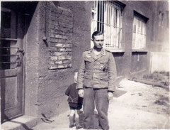 Robert Wulff with tropical uniform during a short furlough in Ulm, Germany