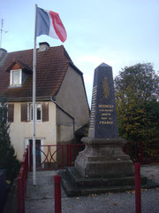 War Memorial in Réchésy for the Fallen of 1914 - 1918