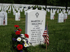 Captain Martin J. Higgins passed away at age 91, on 26 February 2007. He was buried with full military honors in Arlington National Cemetery on 15 May 2007 (Photo courtesy Higgins Family Collection)