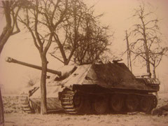 Jagdpanther No 131 after the battle