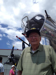 Paul E. Cully in front of a B-17 while attending an Airshow 2013 (Photo courtesy Cully family)