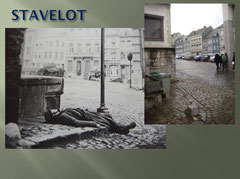 Dead German Grenadier in the streets of Stavelot