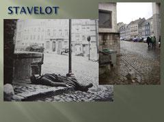 Dead German Grenadier in the streets of Stavelot