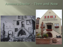 Ammerschwihr Hotel de Ville La Fontaine de Statue de LHomme - Then and Now