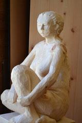 Arvenholzskuptur Frau