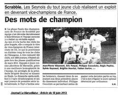 La Marseillaise du 18 juin 2013.
