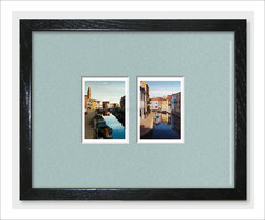 Diptych of Island of Burano - Limited Editon ACEO Prints of Oil Painting