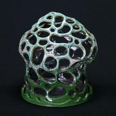 Objekt/Lampe-Unikat, von Hand gebaut,  H 27 cm