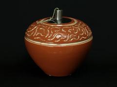 Vase/Öllampe-Unikat, gegossen und von Hand geschnitten,  H 17 cm