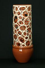 Lampe-Unikat, gegossen und von Hand geformt,  H 51,5 cm