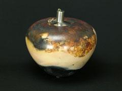 Vase/Öllampe-Unikat, von Hand poliert, Grubenbrand, H 17 cm