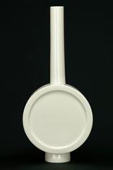 Design Vase aus zwei Teilen, gegossenes Porzellan, H 39 cm