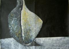 Geheimnis, Tempera, 140x70cm, 2009