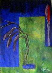 Blüte, Tempera, 90x130cm, 2009