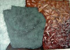 Grünes Gefäß, Tempera, 130x90cm, 2009