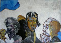 Besuch bei Modigliani, 130x90cm, 2009