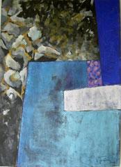 Auflager, Tempera, 90x130cm, 2009