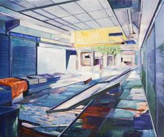 Modiano, Acryl und Öl auf Leinwand, 57x68cm, 2019