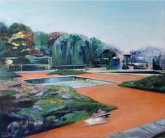 Am Palmengarten September, Acryl und Öl auf Leinwand, 50x60cm, 2019