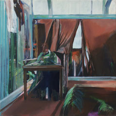 Glashaus, Acryl und Öl auf Leinwand, 40x40cm, 2017