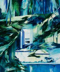 Waldbruch, Acryl und Öl auf Leinwand, 190x160cm, 2020