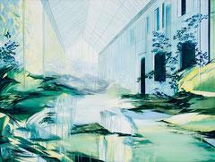 Glashalle, Acryl und Öl auf Leinwand, 75x100cm, 2020