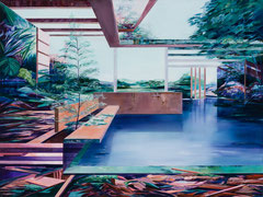 Panorama, Acryl und Öl auf Leinwand, 105x140cm, 2020