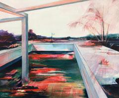 Farbfenster, Acryl und Öl auf Leinwand, 50x60cm, 2018